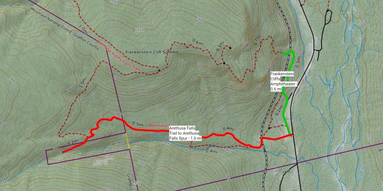 Arathusa Falls Map